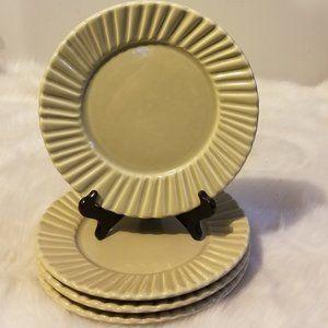 Pottery Barn DANA-CREAM RIBBED Dinner Plate